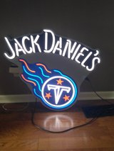 Neon Jack Daniels /Tennessee Titans sign in Hopkinsville, Kentucky