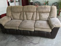 Reclining couch in Fort Riley, Kansas