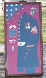 Sgt Uniform Shadow Box w/ Trousers!!! in Camp Lejeune, North Carolina