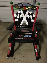 KIDS RACE CAR ROCKING CHAIR /W GEAR & SOUND. in Palatine, Illinois