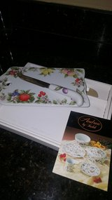 Beautiful porcelain cheese tray and knife in Kingwood, Texas