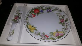 Beautiful serving plate with matching server in Kingwood, Texas
