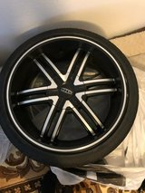 4 month old DTP tires and rims in Virginia Beach, Virginia
