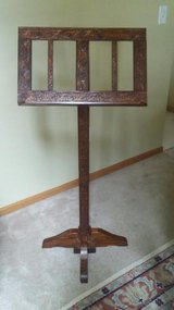 Handmade Wood Music Stand in Chicago, Illinois