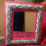 Hot pink and zebra mirror in Cleveland, Texas