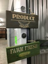 Cool Painted 'Produce' and 'Farm Fresh'  Wooden Wall Decor in Camp Lejeune, North Carolina