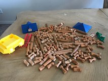 Lincoln logs in Fort Bliss, Texas