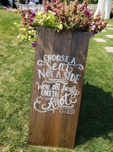 Wedding Decor - Wooden Signs in Glendale Heights, Illinois