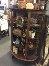 Antique curio cabinet w/curved front in Aurora, Illinois