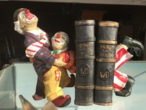 Clown Bookends in Lakenheath, UK
