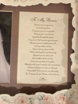 """To My Parents"" Thank You Wedding Picture Frame with Sentiment in Chicago, Illinois"