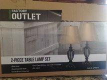 2 PIECE TABLE LAMP SET BRAND NEW IN BOX in Batavia, Illinois