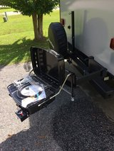 NEVER USED BUMPER MOUNTED SWING OUT GAS GRILL WITH CONNECTION HOSE in Beaufort, South Carolina