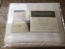 White Damask KING Sheet Set-New! in 29 Palms, California