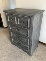 Solid wood gray accented Dresser/Chest in Plainfield, Illinois
