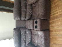 Double recliner with drink holder and storage cubby in Clarksville, Tennessee