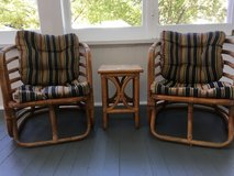 Rattan table and chairs in DeKalb, Illinois