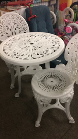 White 3 Piece Patio Set (New) in Fort Leonard Wood, Missouri