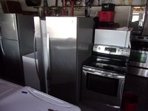 Kenmore Stainless Steel Refrigerator and Electric Stove in Fort Riley, Kansas