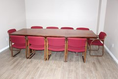 Solid wood veneer conference table with 10 chairs now available!! in Spring, Texas