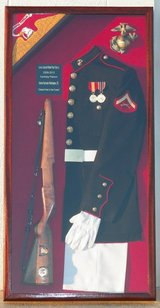 Uniform Shadow Box w/ Drill Weapon!!! in Camp Lejeune, North Carolina