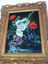 Antique  still life floral oil on canvas painting in Perry, Georgia