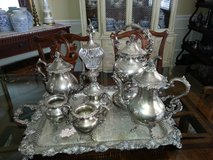 Vintage silver plate tea sets in Perry, Georgia
