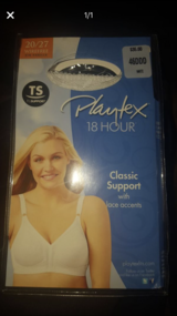 Brand New, never opened Playtex 18 hour bra size 46DDD in New Lenox, Illinois