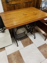 Singer base butcher block table in Fort Leonard Wood, Missouri