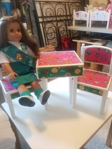 GIRL SCOUT table/chairs FITS AMERICAN GIRL DOLLS in Chicago, Illinois
