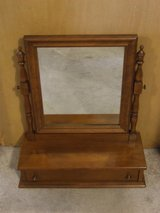 Ethan Allen Vanity Mirror / Drawer for Dresser Table Desk Top in Naperville, Illinois