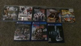 5 ps3 games and 3 ps4 games in Fort Leonard Wood, Missouri