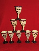 Halloween Skeleton Goblets set of 8 Gothic Creepy Scary Eerie in Wheaton, Illinois
