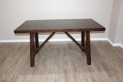 Rectangular dining table with 2 leaf extensions, 4 chairs included in Houston, Texas