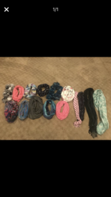 Lot of women's fashion scarves in Plainfield, Illinois