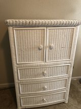 White wicker dresser in Fort Rucker, Alabama