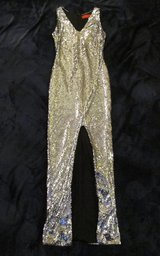 Homecoming Prom Long Formal Dress Silver Sequins Sparkly size 3/4 in Westmont, Illinois