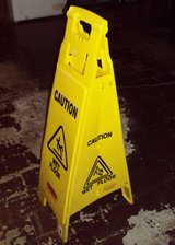 Rubbermaid Wet Floor Sign Perfect in New Lenox, Illinois