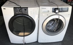 Samsung frontload washer and propane dryer in Temecula, California