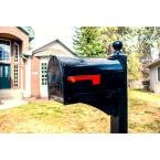Gibraltar Marshall Black Post Mount Large Locking Mailbox in Glendale Heights, Illinois