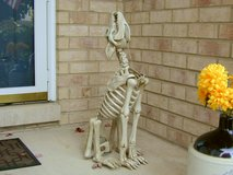 NEW Halloween Animated Wolf Skeleton Howling Life-size Coyote Yard Decor in Bartlett, Illinois