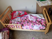 """Complete toddler bed + """"accessories """" in Fort Carson, Colorado"""