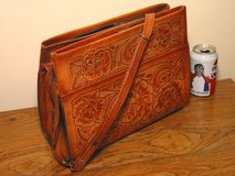 NEW Tooled Leather Purse Southwest Mexican Floral Design in Bartlett, Illinois