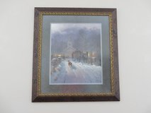 G. Harvey: Christmas In the Village signed/numbered framed print in San Antonio, Texas