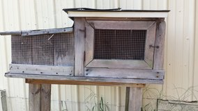 Rabbit hutch in Leesville, Louisiana