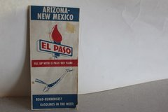El Paso Red Flame Arizona/NewMexico Map  (Reduced) in Alamogordo, New Mexico