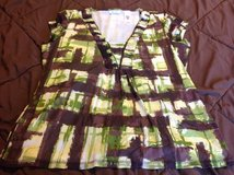 Liz and Co XL cap sleeve lined dress shirt very pretty fall colors in Manhattan, Kansas