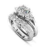 ****BRAND NEW*** CZ Wedding Set With Engraving On Bands***SZ 8 in Houston, Texas
