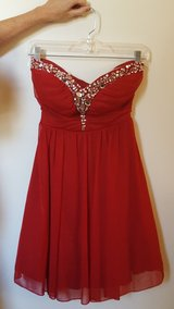 Homecoming Prom Formal Dress,Short Red, sz 3/5 in Westmont, Illinois
