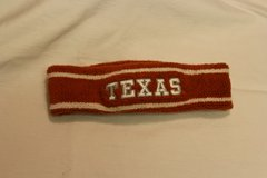University Texas Longhorns Sweat Band Exercise Head Gym Work Out Racket ball in Houston, Texas